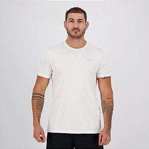 Camiseta Fila Masculino Basic Sports  Branco+prata