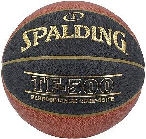 Bola De Basquete Spalding Cbb Tf-500 Couro Microfibra Tam 7