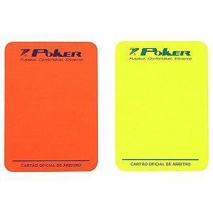 Cartão de Árbitro Poker Oficial Campo - Vermelho+Amarelo