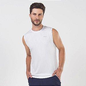 Camiseta Fila sem manga masculino  basic sports - branca