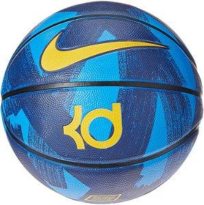 Bola de Basquete Nike KD Playground 8P Tamanho 7 - Azul - Amarelo