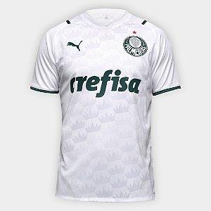 Camisa Palmeiras II 21/22 s/n° Torcedor Puma Masculino - Branco+Verde