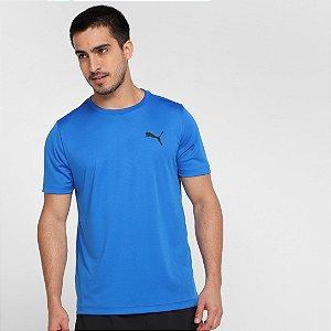 Camiseta Puma Active Small Logo Masculina - Azul