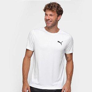 Camiseta Puma Active Small Logo Masculino - Branco