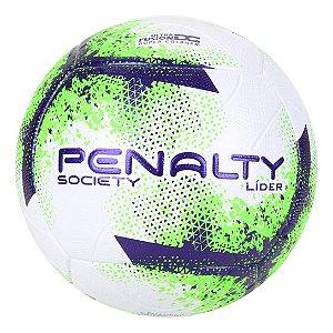 Bola de Futebol Society Penalty Líder XXI - Branco+Verde