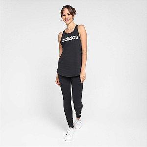 Calça Legging Adidas Linear Feminino- Preto+Branco