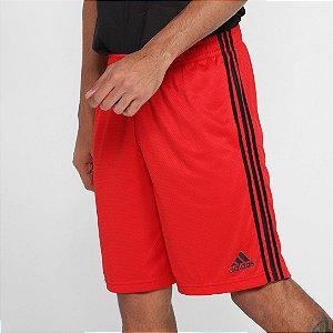 Short Adidas Logo  Masculino - Vermelho