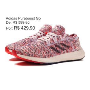Tênis Adidas PureBoost GO Feminino Rosa