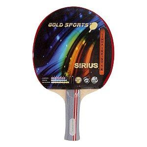 Raquete Tenis De Mesa Gold Sports Sirius - Vermelho