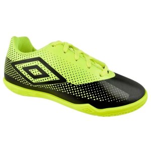 Chuteira Umbro Futsal Icon - Preto e verde OF72123