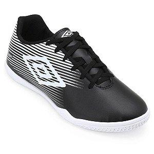 Chuteira Futsal Umbro F5 Light - Preto e Branco OF72122