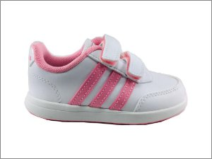 Tênis Infantil Adidas Vs Switch 2 Cmf - Branco e Rosa BC0101