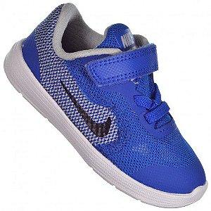 Tênis Nike Revolution 3 TDV Jr Azul/Cinza - 819415-402