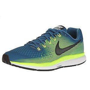 Tênis Nike Air Zoom Pegasus 34 Industrial Azul e Preto Volt 880555-400