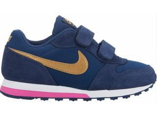 Tênis Nike  md Runner 2 Marinho Dourado 807320-406