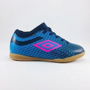 Chuteira Umbro Velocita IV Club Futsal Juvenil - Azul e Marinho