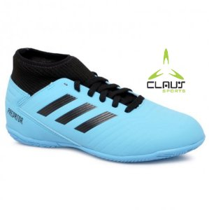 Tênis Futsal Infantil Adidas Predator 19.3 G25807 Azul/Preto