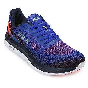 Tênis Fila FR Lumix FL19 Masculino - Azul e Laranja Corrida - Caminhada - Numeração especial