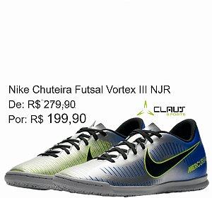 Chuteira Futsal Nike MercurialX Vortex III Neymar 921518-400