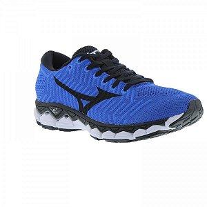 Tênis Mizuno Wave Knit S1 Masculino - Azul e Preto