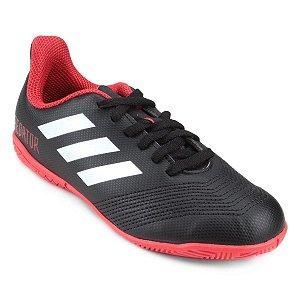 Chuteira Futsal Infantil Adidas Predator 18 4 IN - Preto e Branco DB2335