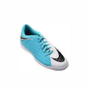 Chuteira Futsal Nike Hypervenom Phade 3 IC - Branco e Azul          Promoção de 219,90 Por 129,90