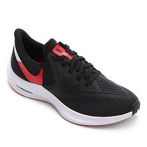 Tênis Nike Zoom Winflo 6 Masculino - Preto e Vermelho