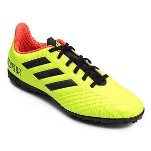 PROMOÇÃO Chuteira Society Adidas Predator 18 4 TF - Amarelo e Preto DB2141