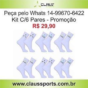 Packs c/6 pares Masculina Cano Médio