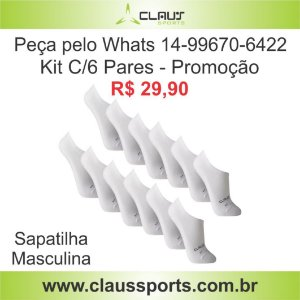 Packs C/6 Pares Meia Masculina Sapatilha