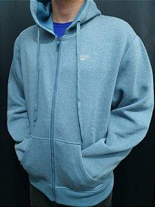 Blusão Hoodie Moleton Com Ziper Inteiro