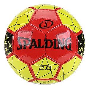 Bola de Futebol Campo Spalding 2.0 - Vermelho e Amarelo