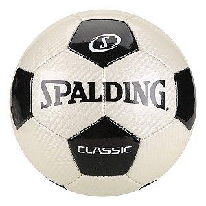 Bola de Futebol Campo Spalding Classic - Preto e Branco