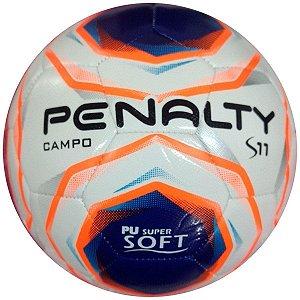 Bola Futebol Campo Penalty S11 R2 X - Branco e Laranja
