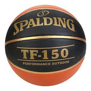 Bola de Basquete Spalding TF 150 Oficial CBB - Laranja e Preto
