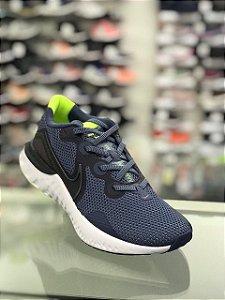 Tênis Nike Renew Run Masculino - Azul e Chumbo