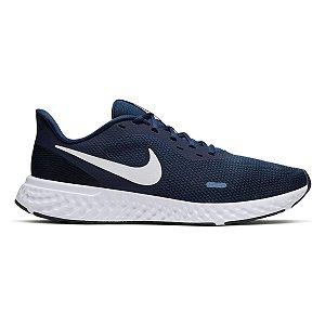 Tênis Nike Revolution 5 Masculino - Marinho e Branco