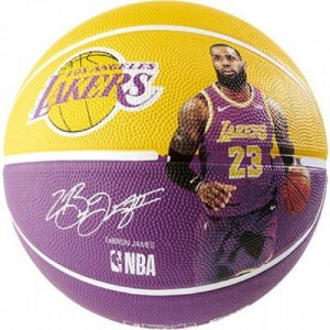 Bola Basquete Spalding Nba Los Angeles Lakers Lebron James