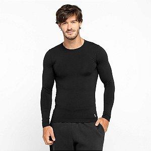 Camiseta Lupo Sport Com Proteção UV Manga Longa Masculina - Preto