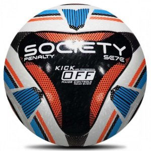 Bola Society Penalty Sete R1 Kick Off IX - Branco/Preto/Azul