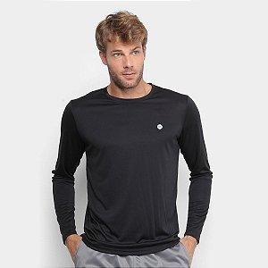 Camiseta Manga Longa Olympikus Essential Masculina - Preto