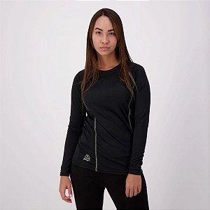 Camisa Fator de Proteção UV50+ M/L Feminina 04053 Preta