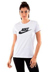 Camiseta Feminina Nike Essentials Icon Futura Branca BV6169-100