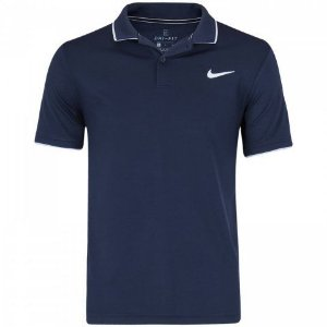 Polo Nike Court Dri-FIT Team 939137-452 - Marinho -