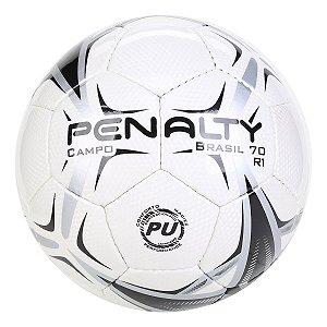 Bola de Futebol Campo Penalty Brasil 70 R1 X - Branco e Preto