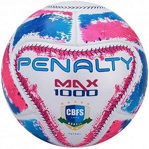 Bola de Futsal Penalty Max 1000 Ix - Branco e Rosa