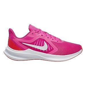 Tênis Nike Downshifter 10 Feminino - Pink e Branco
