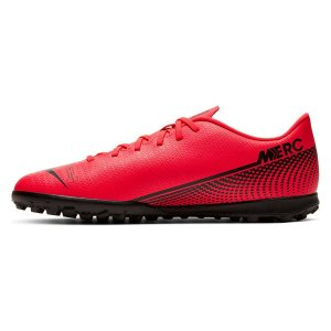 Chuteira Society Nike Mercurial Vapor 13 Club TF - Vermelho e Preto AT7999-606