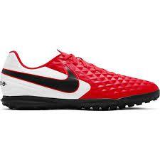 Chuteira Society Nike Tiempo Legend 8 Academy TF - Vermelho e Preto AT6109-606