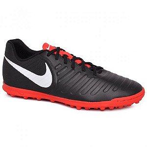 Chuteira Society Nike Legend 7 Club Preto/Vermelho AH7248-006